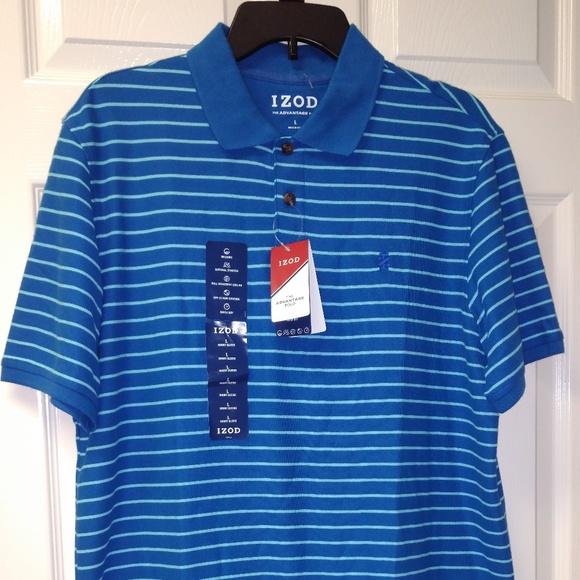 8128aa88c Izod Shirts | Mens Advantage Performance Stripe Polo Nwt | Poshmark